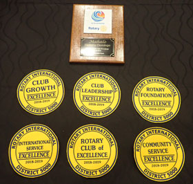 Kona Sunrise won SIX Awards at the 2019 District 5000 Conference!