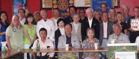 Rotarians at work and play